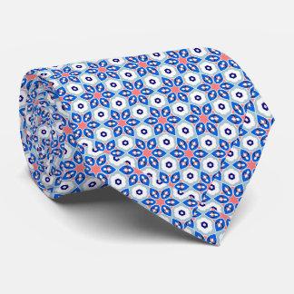 Blauer u. weißer geometrischer traditioneller personalisierte krawatten