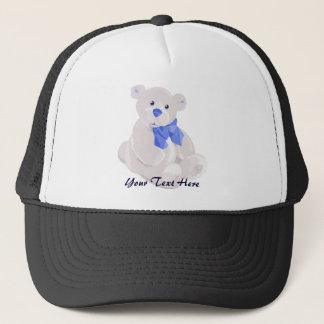Blauer u. weißer Teddybär-Hut Truckerkappe