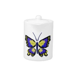 Blauer und gelber Schmetterling