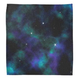 Blauer und grüner GalaxieBandana Halstücher