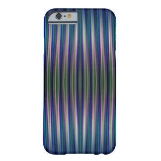 Blauer und grüner gestreifter Hintergrund iphone 6 Barely There iPhone 6 Hülle