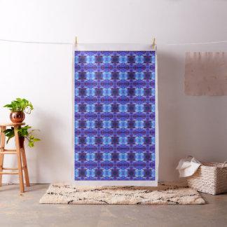 Blauer und lila abstrakter Entwurf Stoff