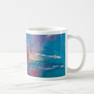 Blauer und malvenfarbener Sonnenuntergang Kaffeetasse