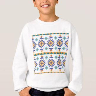 Blauer und orange Western Sweatshirt