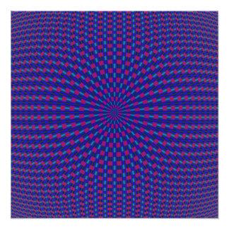 Blauer und roter geometrischer Kreis-Foto-Druck Fotodruck