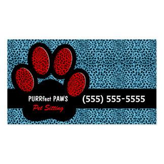 Blauer und roter Gepard-Druck-kundenspezifisches Visitenkarten