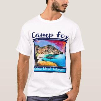 Blauer und roter Himmel LagerFox im blauen Rahmen T-Shirt