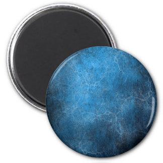 Blauer und schwarzer Hintergrund Runder Magnet 5,1 Cm