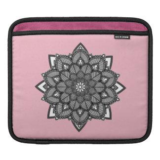 Blauer und schwarzer Mandalas iPad Kasten Sleeve Für iPads