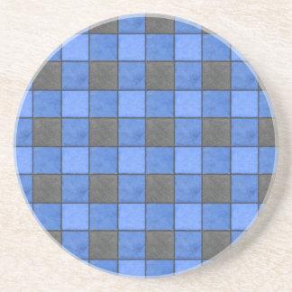 Blauer und schwarzer sandstein untersetzer