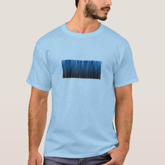 blauer und schwarzes Vorhang - blue and black T-Shirt