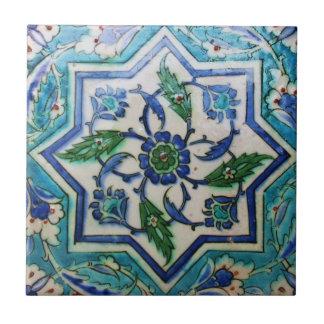 Blauer und weißer BlumenOsmaneära-Fliesenentwurf Fliese