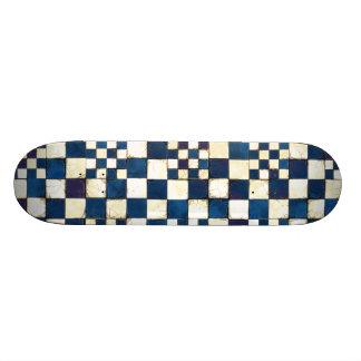 Blauer und weißer gebrochener personalisierte skateboards