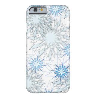 Blauer und weißer iPhone 6 Kasten der abstrakten Barely There iPhone 6 Hülle