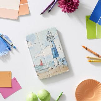 Blauer und weißer Leuchtturm iPad Mini Cover