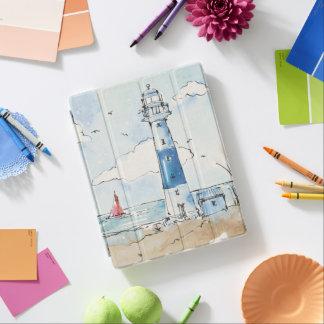 Blauer und weißer Leuchtturm iPad Smart Cover