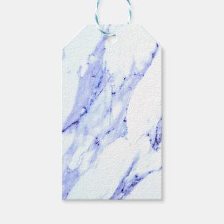 Blauer und weißer Marmor Geschenkanhänger