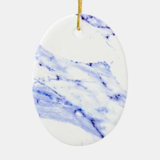 Blauer und weißer Marmor Keramik Ornament