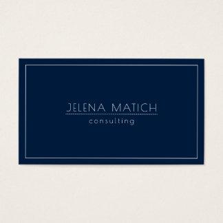 Blauer und weißer Minimalistic Mitternachtsentwurf Visitenkarte