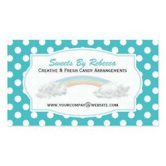 Blauer und weißer Tupfen: Regenbogen-Visitenkarte Visitenkarten