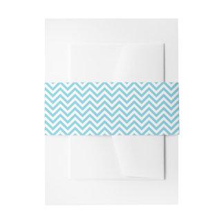 Blauer und weißer Zickzack Stripes Zickzack Muster Einladungsbanderole