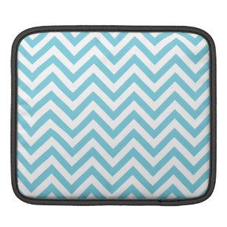 Blauer und weißer Zickzack Stripes Zickzack Muster Sleeve Für iPads
