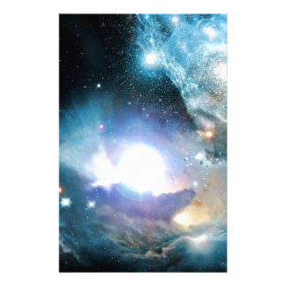 Blauer Universum-Kosmos Briefpapier
