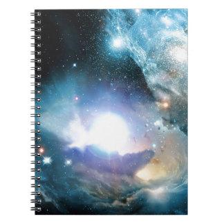 Blauer Universum-Kosmos Spiral Notizblock