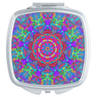 Blauer Universum-Mandala-Taschen-Spiegel Schminkspiegel