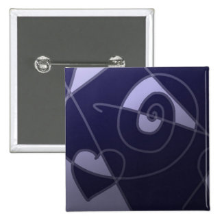 Blauer Valentinsgruß-Quadrat-Knopf Anstecknadelbutton