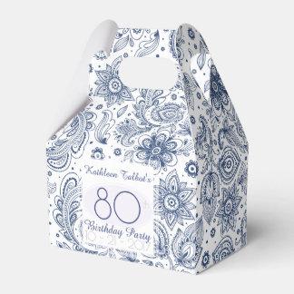 Blauer Vintager 80. Geburtstag danken Ihnen, Geschenkschachtel