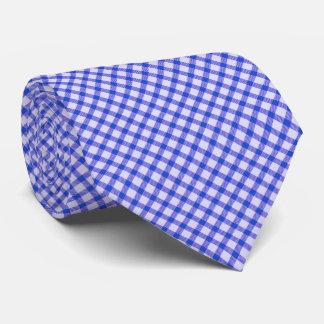 Blauer Vintager Gingham Krawatte