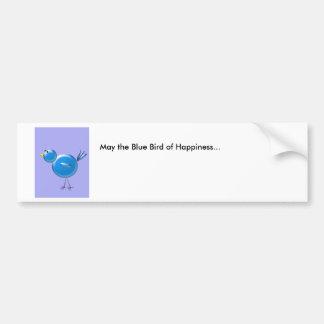 Blauer Vogel des Glückes… Autoaufkleber