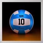 Blauer Volleyball Poster