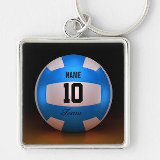 Blauer Volleyball Schlüsselanhänger