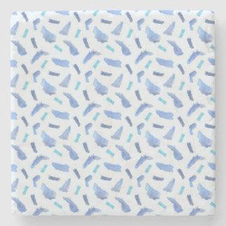 Blauer Watercolor beschmutzt Steinuntersetzer