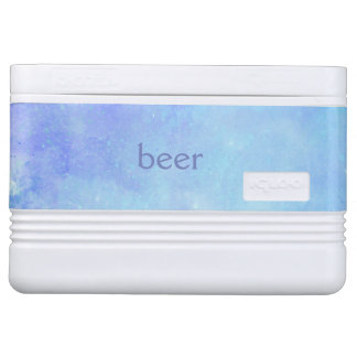 Blauer Watercolor-Bier-Iglu cooler Kühlbox