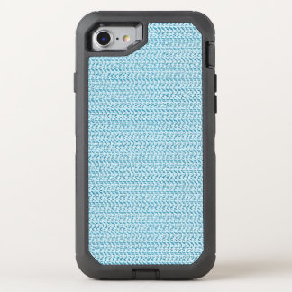 Blauer Webart-Maschen-Pastellblick OtterBox Defender iPhone 8/7 Hülle
