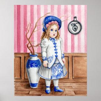 Blauer Weide Bebe Bru Kunst-Druck Poster