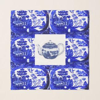 Blauer Weide-Teekanne-Quadrat-Schal Schal