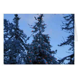 Blauer Weihnachts-/Feiertags-Baum Karte