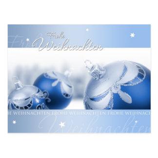 Blauer Weihnachtstraum Postkarte