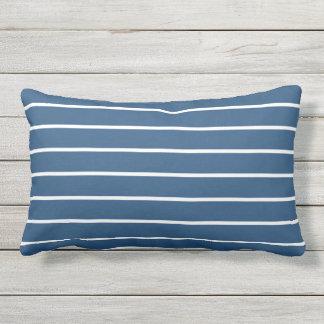 Blauer weißer Streifen-klassischer Seeentwurf Lendenkissen