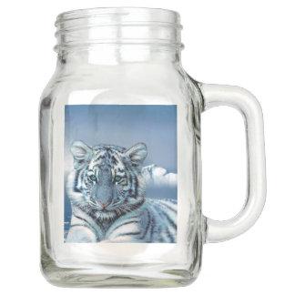 Blauer weißer Tiger Einmachglas