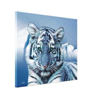 Blauer weißer Tiger Leinwanddruck
