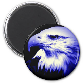 Blauer Weißkopfseeadler Runder Magnet 5,1 Cm