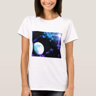 Blauer Weltraum T-Shirt
