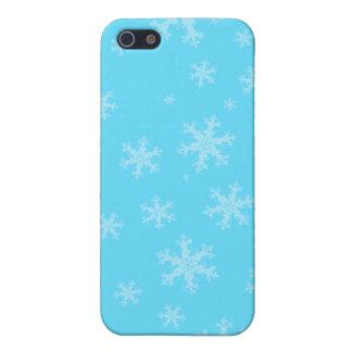 Blauer Winter-Schneeflocke iPhone 5 C Kasten iPhone 5 Schutzhüllen