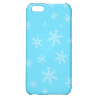 Blauer Winter-Schneeflocke iPhone 5 C Kasten iPhone 5C Hüllen