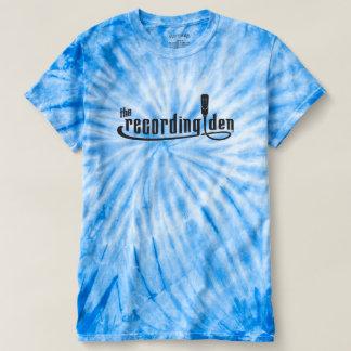 Blauer Wirbelsturm-Krawatten-T - Shirt